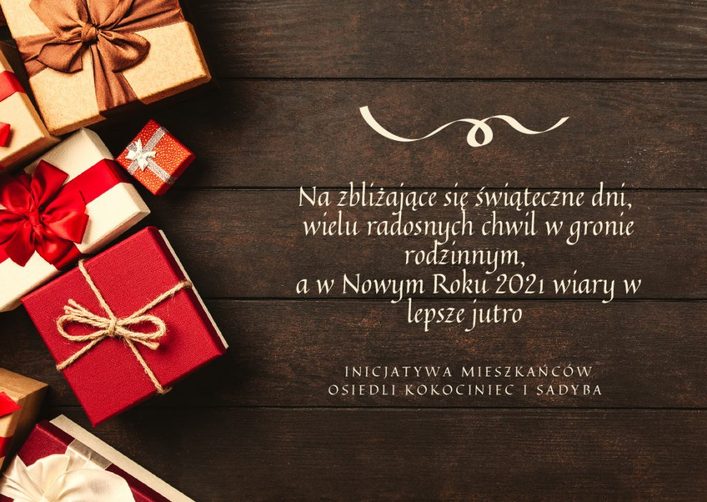 Wesołych Świąt i wszystkiego dobrego w Nowym 2021 roku