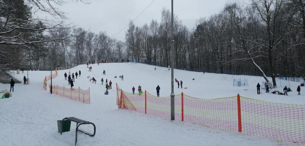 Park Kościuszki w zimowej odsłonie – galeria zdjęć