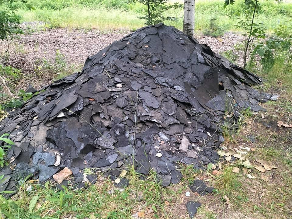 Porzucona papa dachowa w Lesie Panewnickim