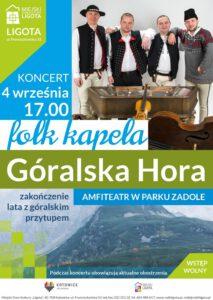 """Folk Kapela """"Góralska Hora"""" – Koncert na zakończenie wakacji"""